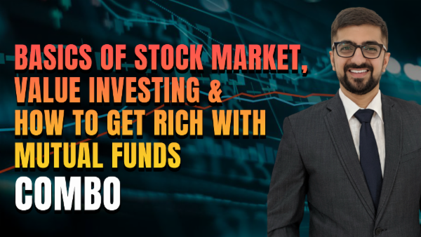 Basics of Stock Market, Value Investing & How to Get Rich with Mutual Funds Combo cover