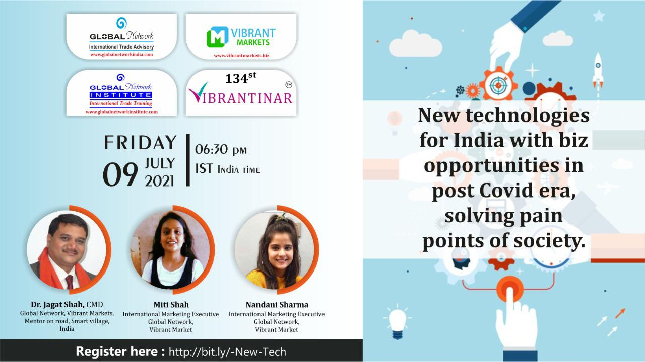 New technologies for India with biz opportunities in post Covid era, solving pain points of society. cover
