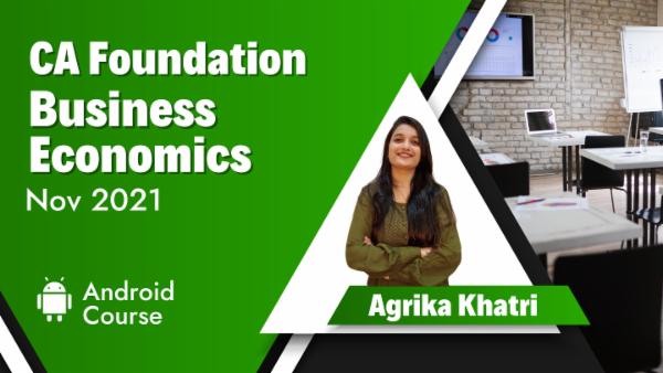 CA Foundation Business Economics Nov 2021 | Mobile App cover