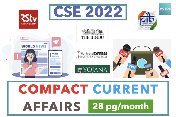 Compact Current Affairs - 28 Pages/Month cover