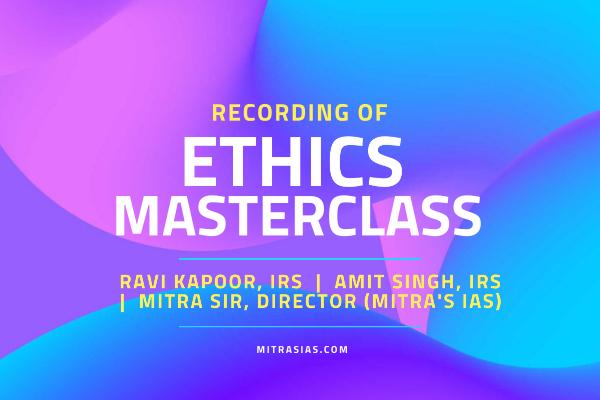 Ethics MasterClass (Recording) cover