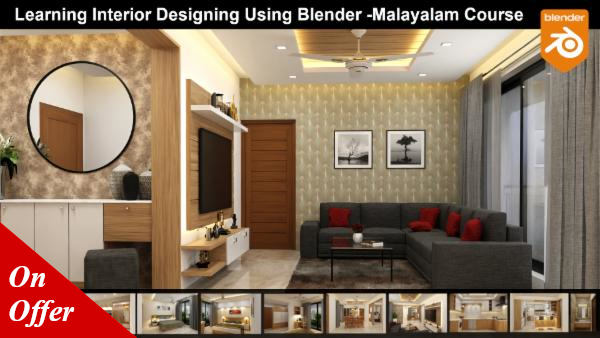 Learning Interior Designing Using Blender - Malayalam Course cover