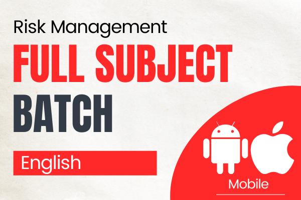 CA Final Risk Management English Batch cover