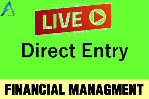 CA INTER - Live - Direct Entry - FM cover
