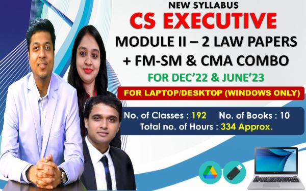 CS EXECUTIVE - MODULE 2 ALL PAPERS COMBO - LIVE AT HOME BATCH - FOR LAPTOP/DESKTOP (WINDOWS ONLY) cover