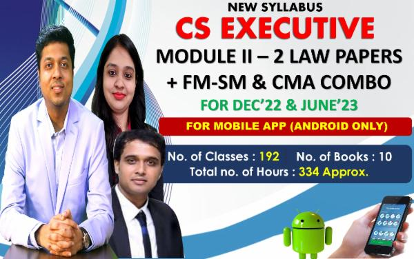 CS EXECUTIVE - MODULE 2 ALL PAPERS COMBO - LIVE AT HOME BATCH - FOR MOBILE APP (ANDROID ONLY) cover