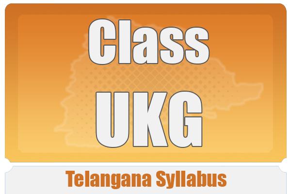 CLASS UKG TELANGANA SYLLABUS cover