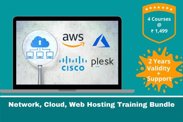 Network + AWS + Azure + Web Hosting Training Bundle cover