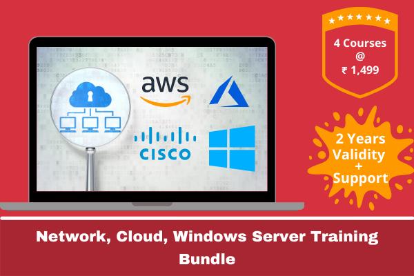 Cloud + Network + Windows Server Course Bundle cover