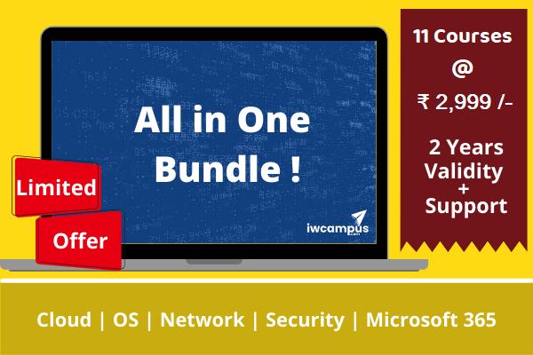 Network + AWS + Azure + Web Hosting + Sophos + Wireshark + Windows Server Training Bundle cover