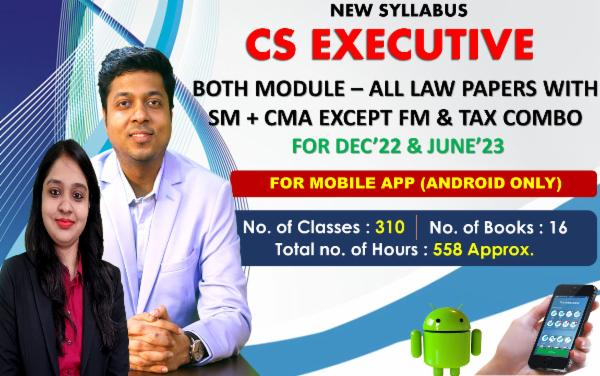 CS EXECUTIVE - ALL LAW PAPERS COMBO EXCEPT FM & TAX - LIVE AT HOME BATCH - FOR MOBILE APP (ANDROID ONLY) cover