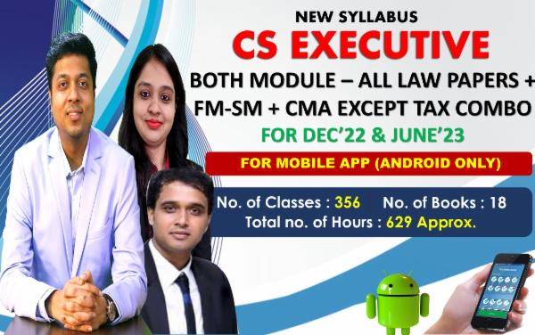 CS EXECUTIVE - ALL PAPERS COMBO EXCEPT TAX - LIVE AT HOME BATCH - FOR MOBILE APP (ANDROID ONLY) cover