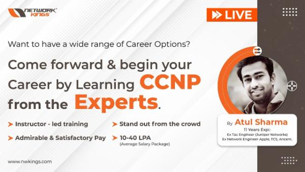 Live CCNP First Masterclass [ Register for Demo Class ] cover