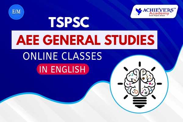 TSPSC AEE General Studies Online Classes cover
