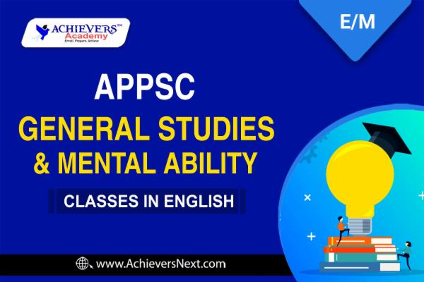 APPSC General Studies Online Classes in English cover