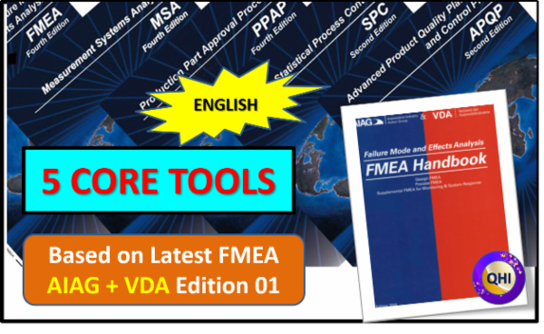 Core Tool APQP, PPAP, MSA, SPC and FMEA - With New FMEA AIAG and VDA - English cover
