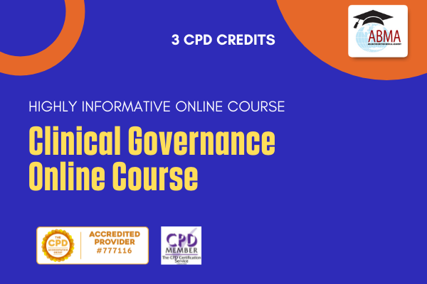 Clinical Governance Online Course cover