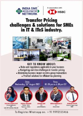 Transfer Pricing Challenges & Solutions for SMEs in IT & ITes Industry cover