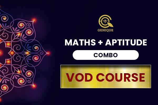 Maths + Aptitude Combo Vod Course cover