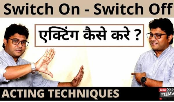 SWITCH ON SWITCH OFF ACTING VIDEO COURSE cover