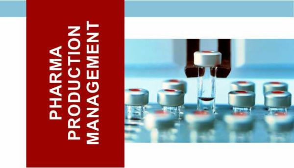 Pharmaceutical Production Management: certification course cover