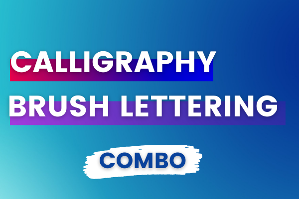 Calligraphy & Brush Lettering For Beginners Online Course - English cover