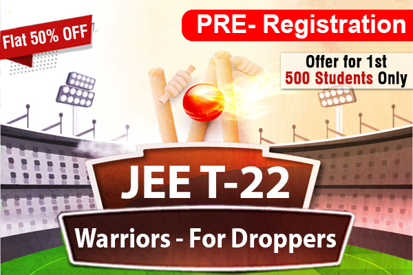 Pre Registration for JEE Warrior for Droppers 2022 cover