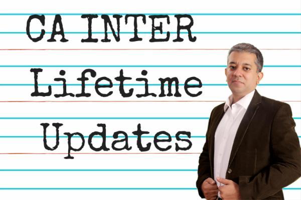 CA INTER - LIFETIME UPDATES cover