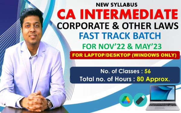 CA INTER - LAW - FAST TRACK BATCH - FOR LAPTOP/DESKTOP (WINDOWS ONLY) cover