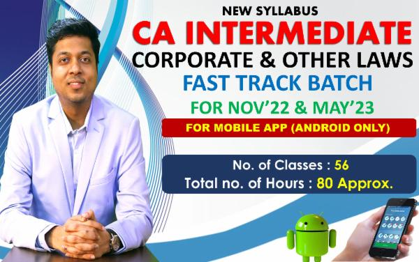 CA INTER - LAW - FAST TRACK BATCH - FOR MOBILE APP (ANDROID ONLY) cover