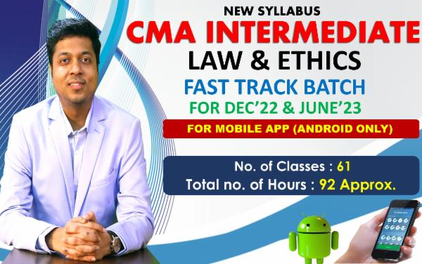 CMA INTER - LAWS & ETHICS - FAST TRACK BATCH - FOR MOBILE APP (ANDROID ONLY) cover