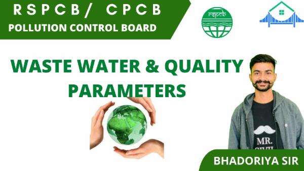 WASTE WATER & QUALITY PARAMETERS cover