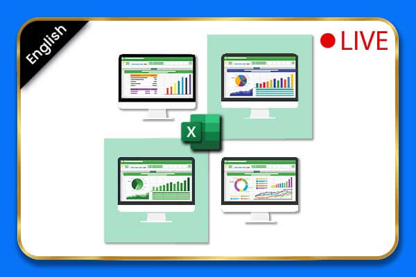 [Live Classes] Microsoft Excel Beginner to Advanced Online Course - English cover