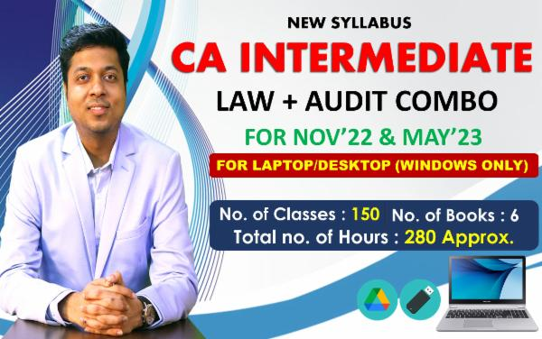 CA INTER - LAW & AUDIT COMBO - FOR MAY 2022 & NOVEMBER 2022 - LIVE @ HOME BATCH AND LIVE FACE TO FACE - FOR LAPTOP/DESKTOP (WINDOWS ONLY) cover