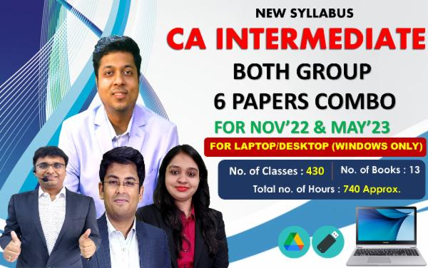 CA INTER - BOTH GROUP 6 PAPERS COMBO - FOR MAY 22 & NOVEMBER 22 - LIVE @ HOME BATCH - FOR LAPTOP/DESKTOP (WINDOWS ONLY) cover