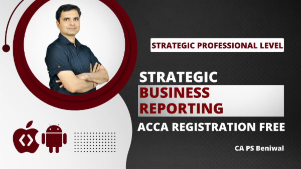 ACCA Strategic Business Reporting with Registration - App Based Classes cover