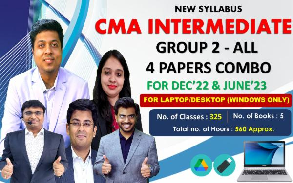 CMA INTER - GROUP 2 - ALL PAPERS COMBO - LIVE @ HOME BATCH - FOR LAPTOP/DESKTOP (WINDOWS ONLY) cover