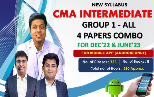CMA INTER GROUP 1 - ALL PAPER COMBO - LIVE @ HOME BATCH FOR MOBILE APP (ANDROID ONLY) cover