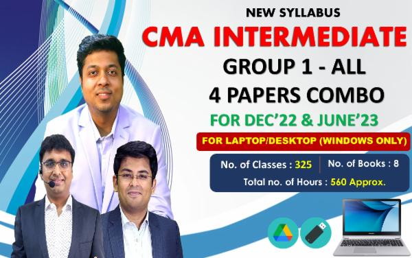 CMA INTER GROUP 1 - ALL PAPER COMBO - LIVE @ HOME BATCH - FOR LAPTOP/DESKTOP (WINDOWS ONLY) cover