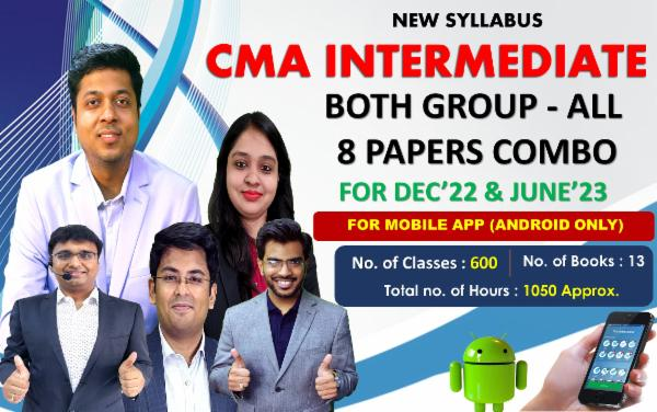 CMA INTER - BOTH GROUP - ALL 8 PAPERS COMBO - LIVE @ HOME BATCH - FOR MOBILE APP (ANDROID ONLY) cover