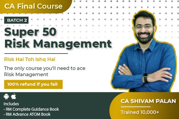Risk Management CA Final Super 50 Batch 2 cover