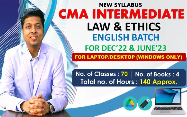 CMA INTER - PAPER 6 - LAWS & ETHICS - LIVE @ HOME ENGLISH BATCH - FOR LAPTOP/DESKTOP (WINDOWS ONLY) cover