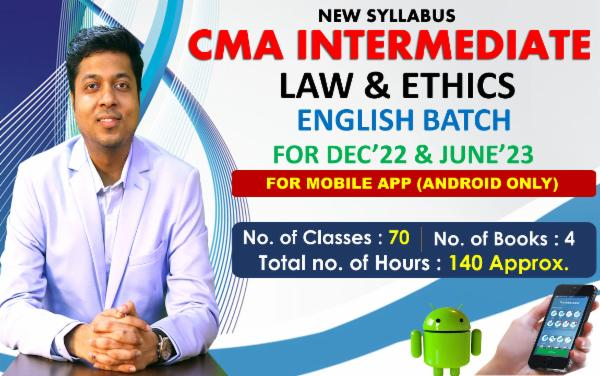 CMA INTER - PAPER 6 - LAWS & ETHICS - LIVE @ HOME ENGLISH BATCH - FOR MOBILE APP (ANDROID ONLY) cover