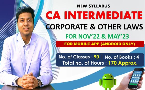 CA INTER - CORPORATE & OTHER LAWS - FOR MAY 22 & NOVEMBER 22 - LIVE @ HOME BATCH - FOR MOBILE APP (ANDROID ONLY) cover