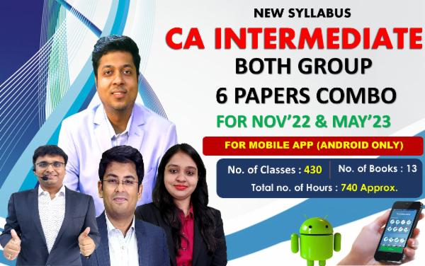 CA INTER - BOTH GROUP 6 PAPERS COMBO - FOR MAY 22 & NOVEMBER 22 - LIVE @ HOME BATCH - FOR MOBILE APP (ANDROID ONLY) cover