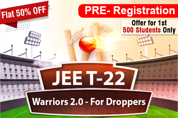 Pre Registration for JEE Warrior 2.0 for Droppers 2022 cover