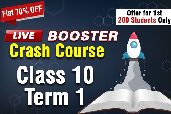 Live Booster Crash Course Class 10 Term 1 cover