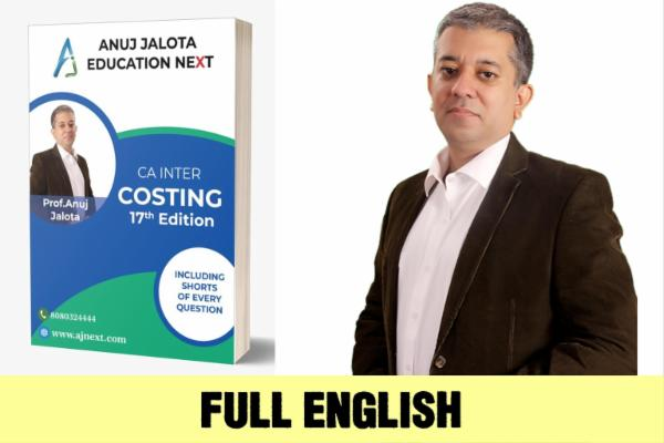 CA INTER - COSTING - Shot Edition - English cover