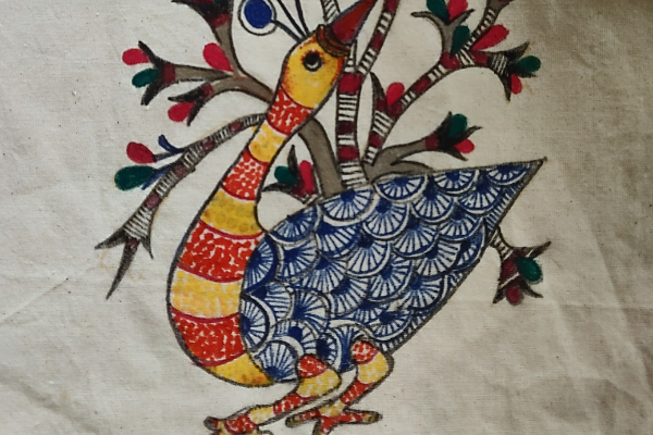 Gond Painting on Tote Bag cover