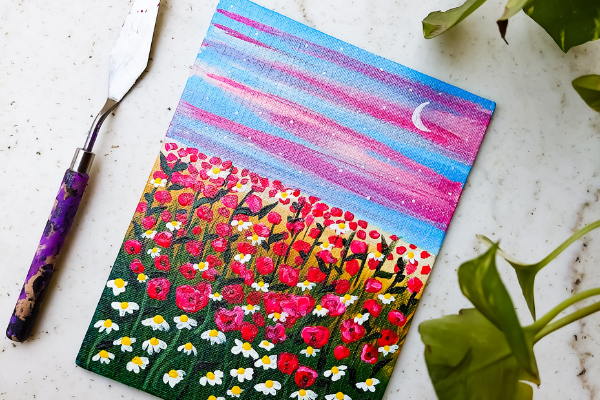 Botanical Landscape with Acrylics cover